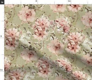 Vintage Shabby Rose Floral Victorian Botanical Spoonflower Fabric by the Yard