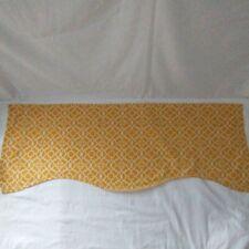 """Waverly Lovely Lattice Valance Jabot 46"""" x 17"""" Mimosa Wave Yellow White Panel"""