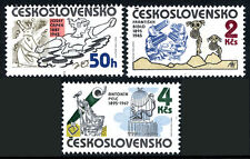 Czechoslovakia 2564-2566, MNH. WW II Anti-Fascist Drawings & Caricatures, 1985