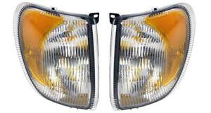 INTERNATIONAL 9200 9400 2005 2006 2007 CORNER TURN SIGNAL LIGHTS LAMPS PAIR