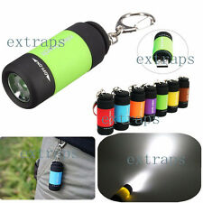 Trendy Mini USB LED Light Torch Lamp Keychain Pocket Rechargeable Flashlight EPS