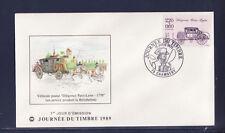 enveloppe 1er jour  journée du timbre  73  Chambéry   de carnet    1989