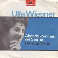 """Ulla Wiesner Abends Kommen Die Sterne 7"""" Single Mono Vinyl Schallplatte 36018"""