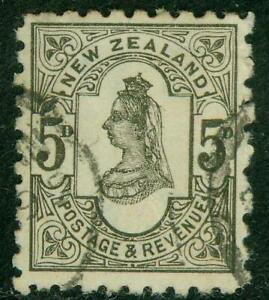 New Zealand. 1893. SSF. 5d. P10. U.