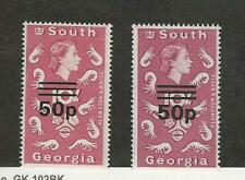 South Georgia, Postage Stamp, #30, 30a Mint NH, 1972-76, DKZ