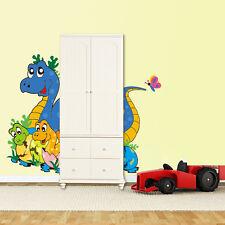 Wandtattoo Wandbild  Kinderzimmer Dinosaurier Süß Bunt Sticker Aufklebe Dino Top