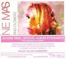 "Jeanne MAS ""The missing flowers"" (CD Digipack) 2007 NEW"