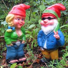 Gartenzwerg  Hippie  Victor und Zwergenfrau Mandy NEU   Hippiezwerg und Frau NEU