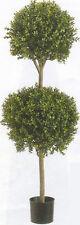 "Artificial Boxwood 2 Ball Topiary Tree Bush 4' 8"" Outdoor 3 5 6 UV Plant Pot 56"""