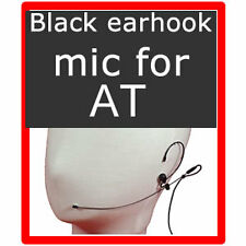 BLACK headset earset microphone for Audio technica #BY