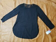 Jockey Womens Supersoft Thermal Longsleeve Tunic With Lace Black Size XL Modal
