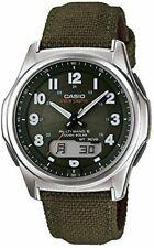 Casio Wvam630b-3a Waveceptor Watch Green Nylon Strap 50 Meter Solar