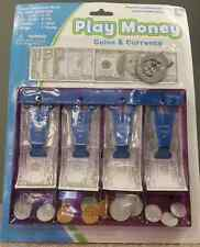 Play Money Set Kids Toy With CASH DRAWER Dollar Bills Coins & Money Clip Game
