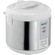 Steba RK2 Edelstahl-Weiss Reiskocher Dämpfeinsatz für Gemüse oder Fisch 700 W