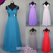 ♥Größe 34 bis 58  Ballkleid Abendkleid Brautkleid Seidiger Chiffon 5 Farben+NEU♥