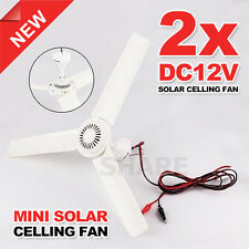 2x 3 Blade Ceiling Fan 12V High Quality Caravan Camping Suit For Solar Pow