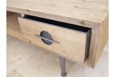 Retro Industrial TV Unit Entertainment Cabinet - Reclaimed Wood Large 140cm long
