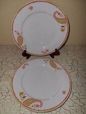 4 RACHAEL RAY Paisley Dinner Plates Orange & Rachael Ray Paisley Dinnerware Plates   eBay