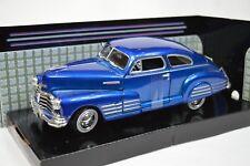 CHEVROLET AEROSEDAN FLEETLINE 1948 MOTORMAX 73266 1:24 NEW DIECAST BLUE