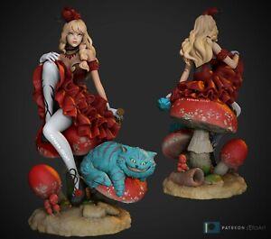 Sexy Alice in Wonderland Fan Art   Miniature Statue   Resin Figure Garage Kit