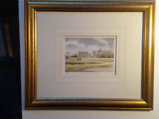 Kenneth Burton Limited Edition Watercolour - Dalmahoy Edinburgh Signed & Framed