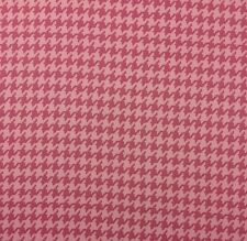 "BRAEMORE HOUNDSTOOTH CHECK PINK #D4007 Cotton Multiuse FABRIC BY YARD 55""W"