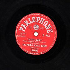 """RARE 1957  THE VIPERS 78  """" SKIFFLE PARTY Parts 1 & 2 """" UK PARLOPHONE R 4371 EX"""
