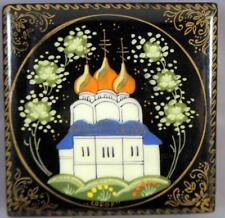 VTG Russian Lacquer Hand Painted Trinket Box Cathedral Christ the Savior, Moscow