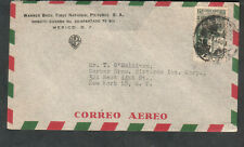 Mexico Oct 1945 cover Warner Brothers First National to T O'Sullivan NY