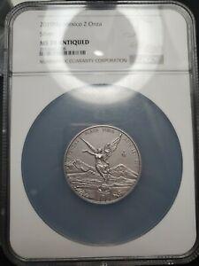 ANTIQUE LIBERTAD - MEXICO - 2019 2 oz Silver Coin NGC MS 70