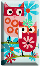 VERY CUTE LITTLE OWLS SINGLE LIGHT SWITCH WALL PLATE CHILDRENS KIDS ROOM BEDROOM