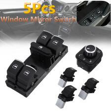 5Pcs Window Master Panel Mirror Switch Control For VW Passat Golf MK5 6 Jetta