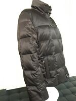 Authentic Bogner Brown Goose Down Puffer Bomber Jacket, Size 10
