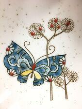 Vintage Butterfly OTAGIRI Ceramic Spoon Rest Handcrafted Blue Butterflies Japan
