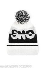 TOPSHOP WHITE SNOW SKI BOBBLE HAT BEANIE WITH POM POM