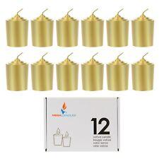 Mega Candles - Unscented 15 Hours Votive Candles - Gold, Set of 12 Cgb067-Gd