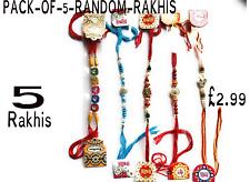 5/10/15/20 Rakhi Thread Raksha Bandhan Hindu Indian Festival rakhi UK SELLER P&P