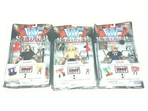 WWF STOMP Series 1 Lot of 3 Wrestling Figures Undertaker Pillman Austin VTG MOP