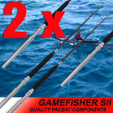 2x 24kg Deep Sea Big Game Fishing Trolling Boat Rod by BMA Top Boat Fishing Gear