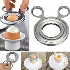 Stainless Steel Boiled Egg Shell Opener Topper Cutter Remover Cracker Kitchen