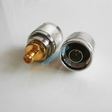 1X N male plug To RPSMA RP-SMA  Female RF connector Adapter