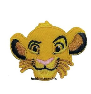 DISNEY SIMBA OFFICIAL IRON ON Applique Motif Patch - Lion King Character 37856