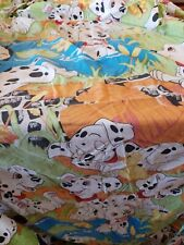 Vintage 1970's Disney's Dalmatian Twin Fitted Sheet W/Playful Pups.