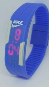 Stock 10 Dark Blue adjustable Nike LED Digital Watch SILICONE BAND Wristwatches