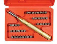 """39 Pc 1/8"""" Steel Stamp Set Metal Hand Die Punch Alphabet Letter Number Kit, Case"""