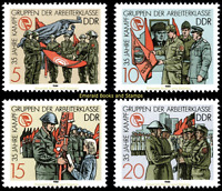 EBS East Germany DDR 1988 - 35 Years Combat Groups - Michel 3177-3180 MNH**