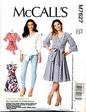 MCCALL'S SEWING PATTERN 7627 MISSES SZ 14-22 LAURA ASHLEY WRAP DRESSES & TOPS