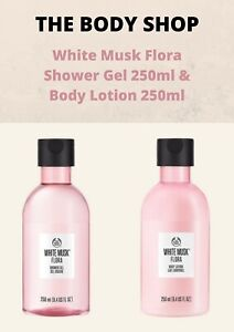 The Body Shop White Musk Flora Shower Gel 250ml & Body Lotion 250ml