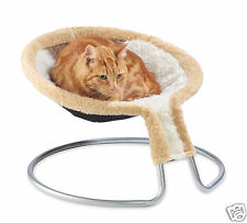 Cleo deluxe cat napper chat, lit avec insertion diamant brun (09-500brdd)