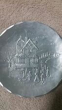 Vtg. Wendell August Forge Christmas Plate Carolers
